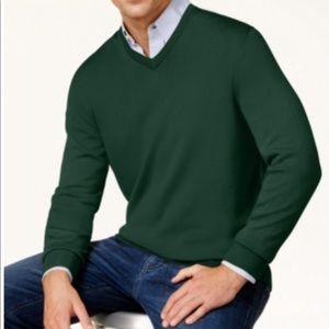 Club Room Men's SolidV-NeckMerinoWoolBlend Sweater